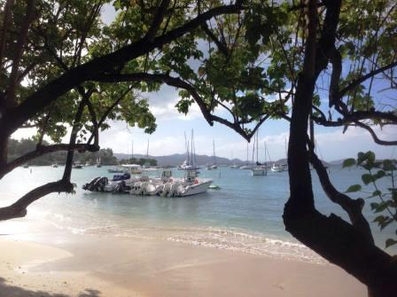 View from lunch in Cruz Bay