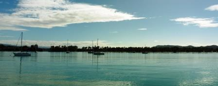 Flat calm Boqueron anchorage