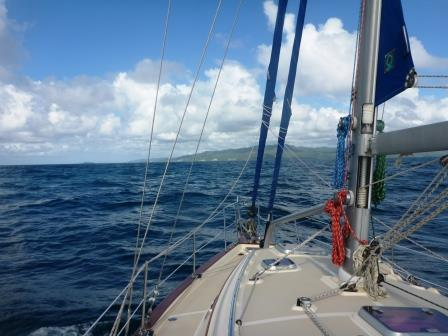 Heading into Samana Bay