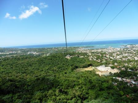 Looking down to Puerto Plata