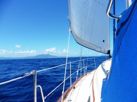 Sailing towards Puerto Plata
