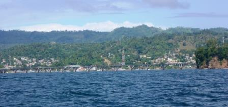 Samana town from the sea