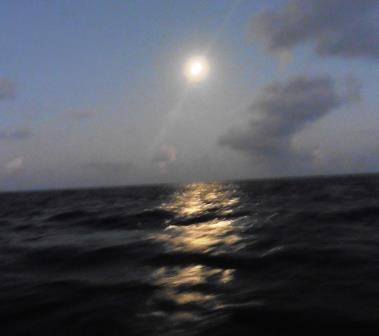 Moonlit departure