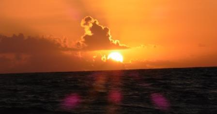 Sunrise at sea 2