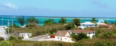 View from Catholic Church down to Clarence Town anchorage