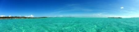 Panorama of Shroud Cay anchorage