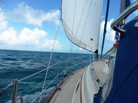 Sailing downwind