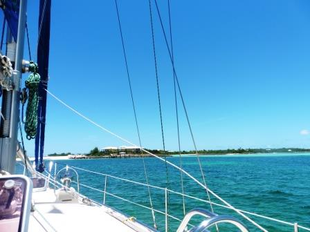 Approaching the bottom of Great Guana Cay