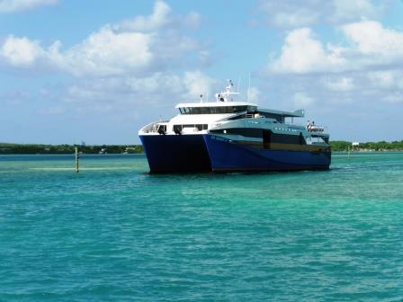 Ferry returning