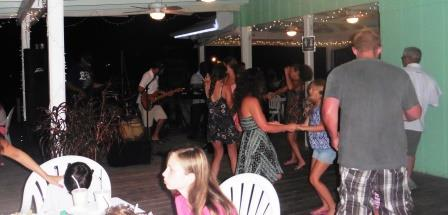 Live music and dancing