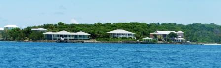 Luxury houses on Man O War Cay