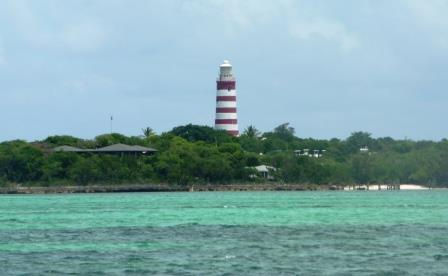 View of the Hope Town Lighthouse