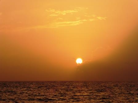 Sunrise at sea 2