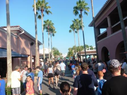 Busy at Universal Studios
