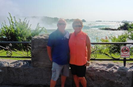 In front of the Horseshoe Falls