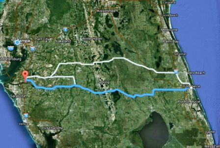 Route across Florida