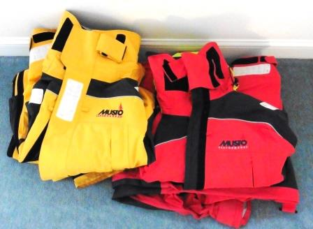 Off-shore wet weather gear