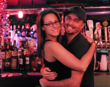 Bartender hugs