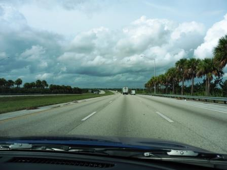 Empty roads in Florida