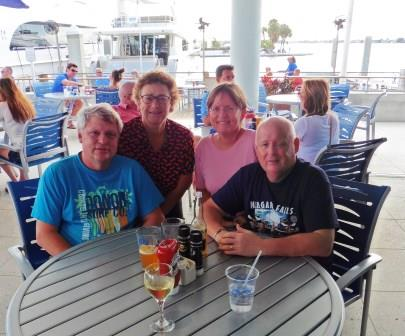 Out for lunch at Marina Jacks