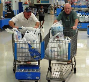 Trolley wars in Walmart