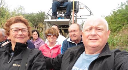 Air boat selfie
