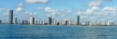 Coastline of Miami