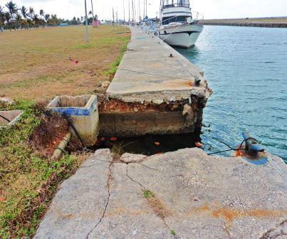 Broken canal
