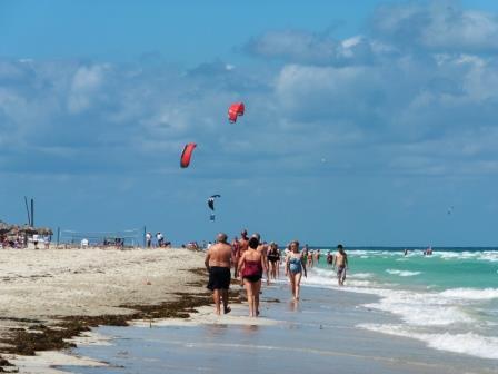 Busy day on Varadero beach