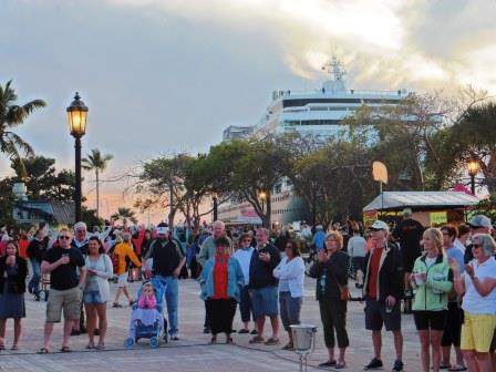 Sunset crowds at Mallory Square