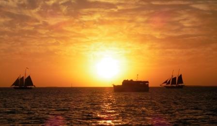 Sunset cruise boats