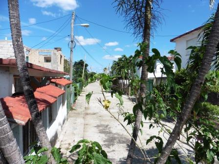 Typical Cuban village street