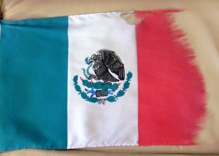 All that's left of our Mexican flag