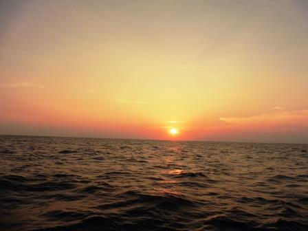 Sunset at sea 3