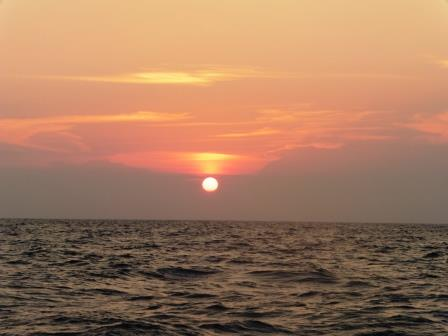Sunset at sea 4