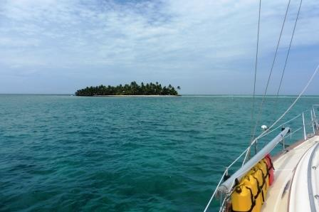 Approaching Ranguana Cay
