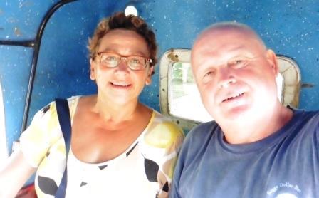 In the tuktuk