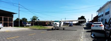Plane in the street