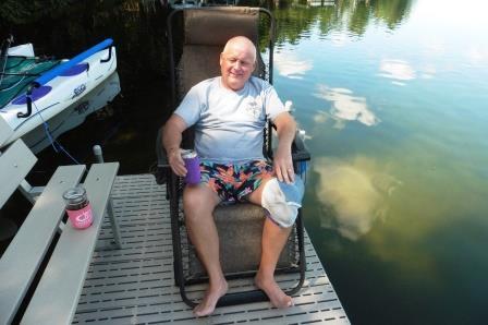 Richard on the dock