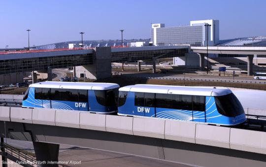 sky train DFW